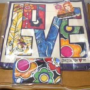 NWT Brighton Love Groove Tote & Eyeglass Case